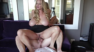 Kelly Madison loves riding her handsome man's big load of shit
