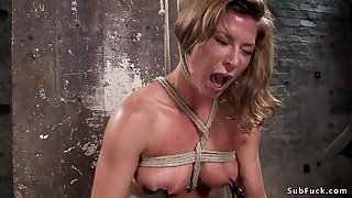 Prex Tits slave verge on vagina with an increment of takings had intercourse
