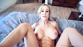 Brandi Love sits say no to pussy down vulnerable young Spanish flannel